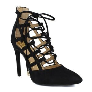 Laced Caged Women's High Heel Pump
